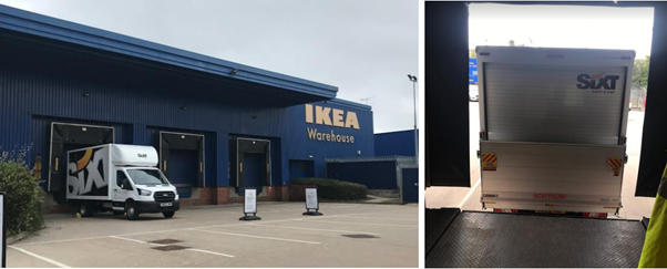 IKEA before van dock leveller installation
