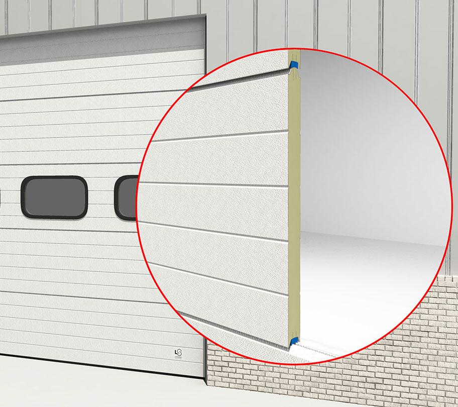 Het standaard Loading Systems industriedeuren paneel van 40mm
