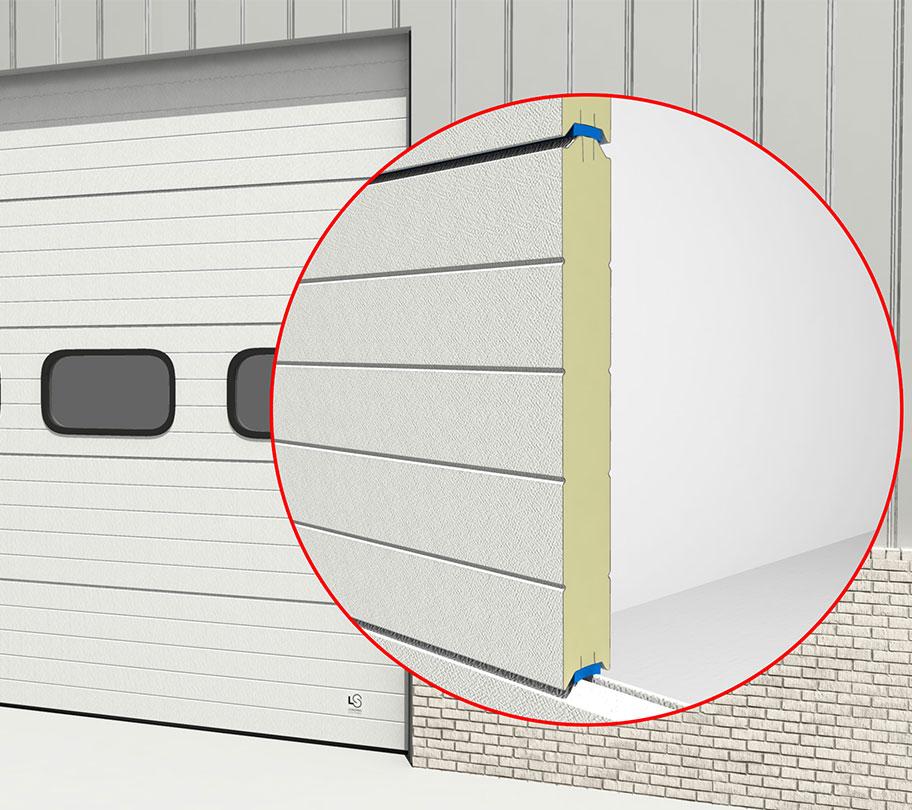 Extra isolatie tegen geluid en warmteverlies! Het Loading systems 80mm paneel is de beste keuze!