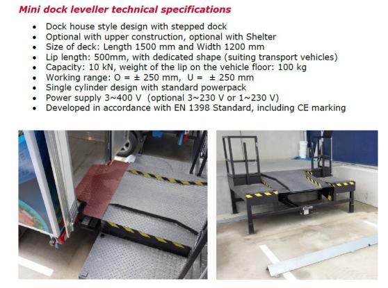 Van Dock Technical Specifications