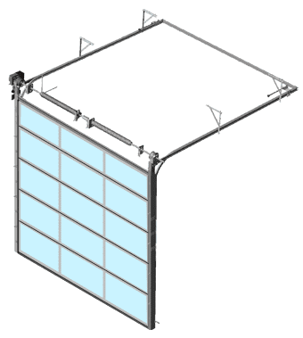 Full vision overhead door - BIM