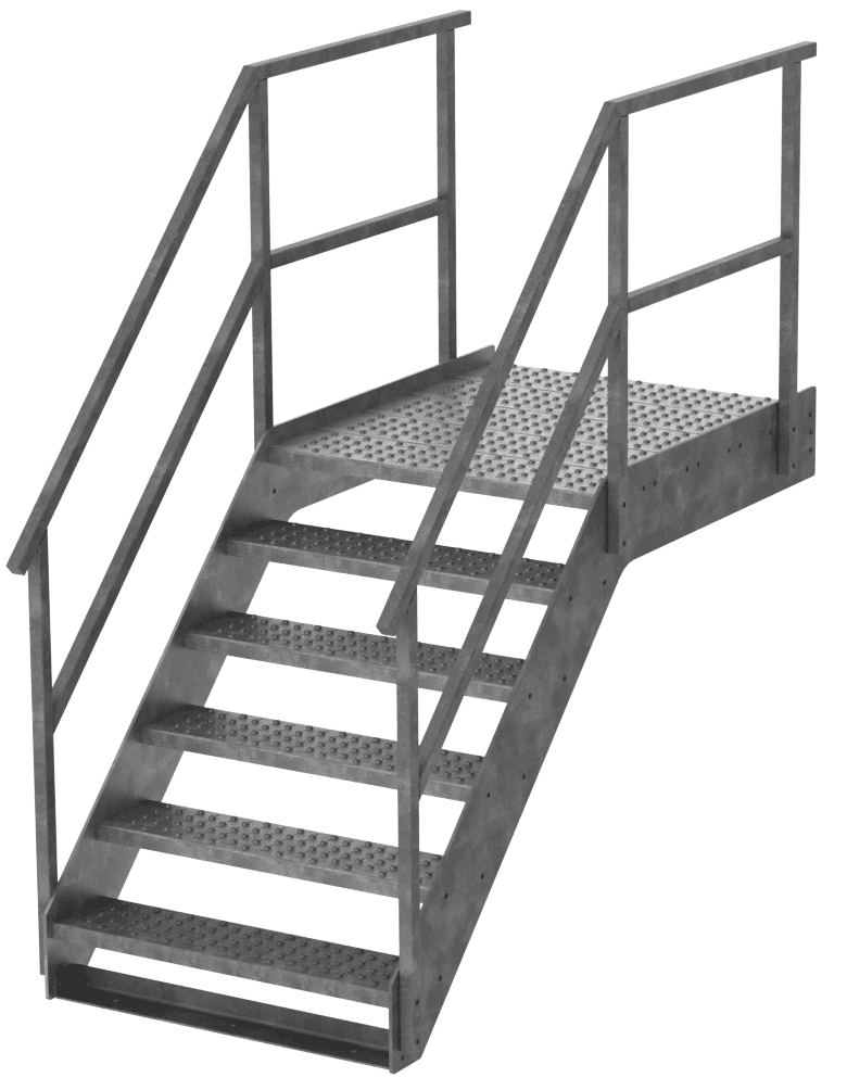 Dock Stairs Are Available In Different Dimensions. The Stairs Are Standard  Hot Dip Galvanised And Made From The Highest Quality Metal.