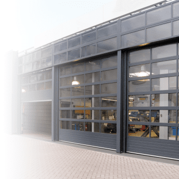 Dealership or maintenance garage? We offer an overhead door which are fully glazed.