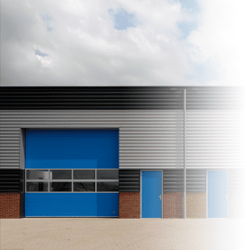 Each overhead door can be fitted with a wicket door.